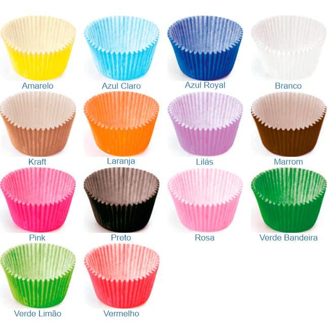 Formas de papel cupcakes cor 7cm