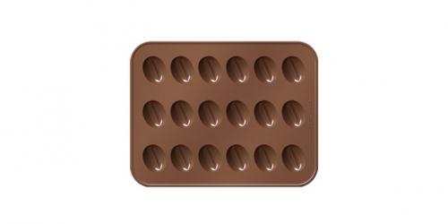 Forma p/ Bombons - Grão de Café