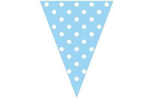 Bandeirinhas Azuis c/ Bolinhas Brancas