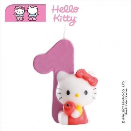 Vela nº1 Hello Kitty