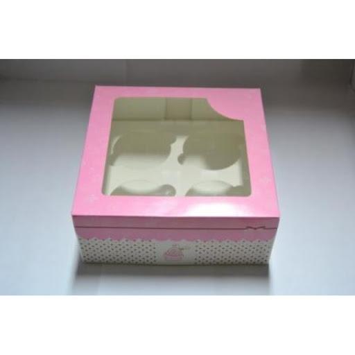 Caixas rosa para cupcakes