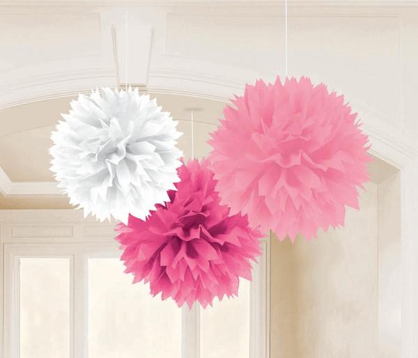 Fluffy Rosa,Branco e Pink