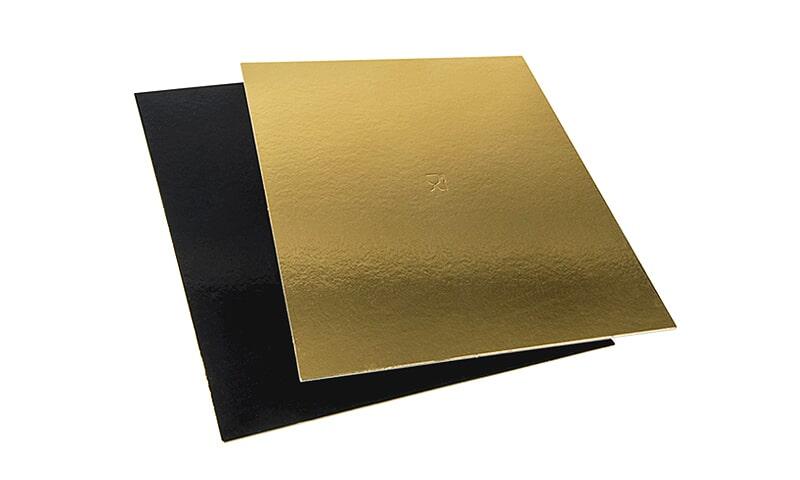 Bases rectangulares 2 faces: preto/dourado