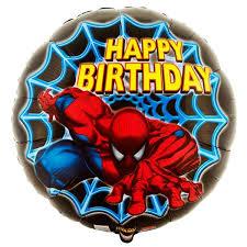 Balão Happy Birthday Homem Aranha