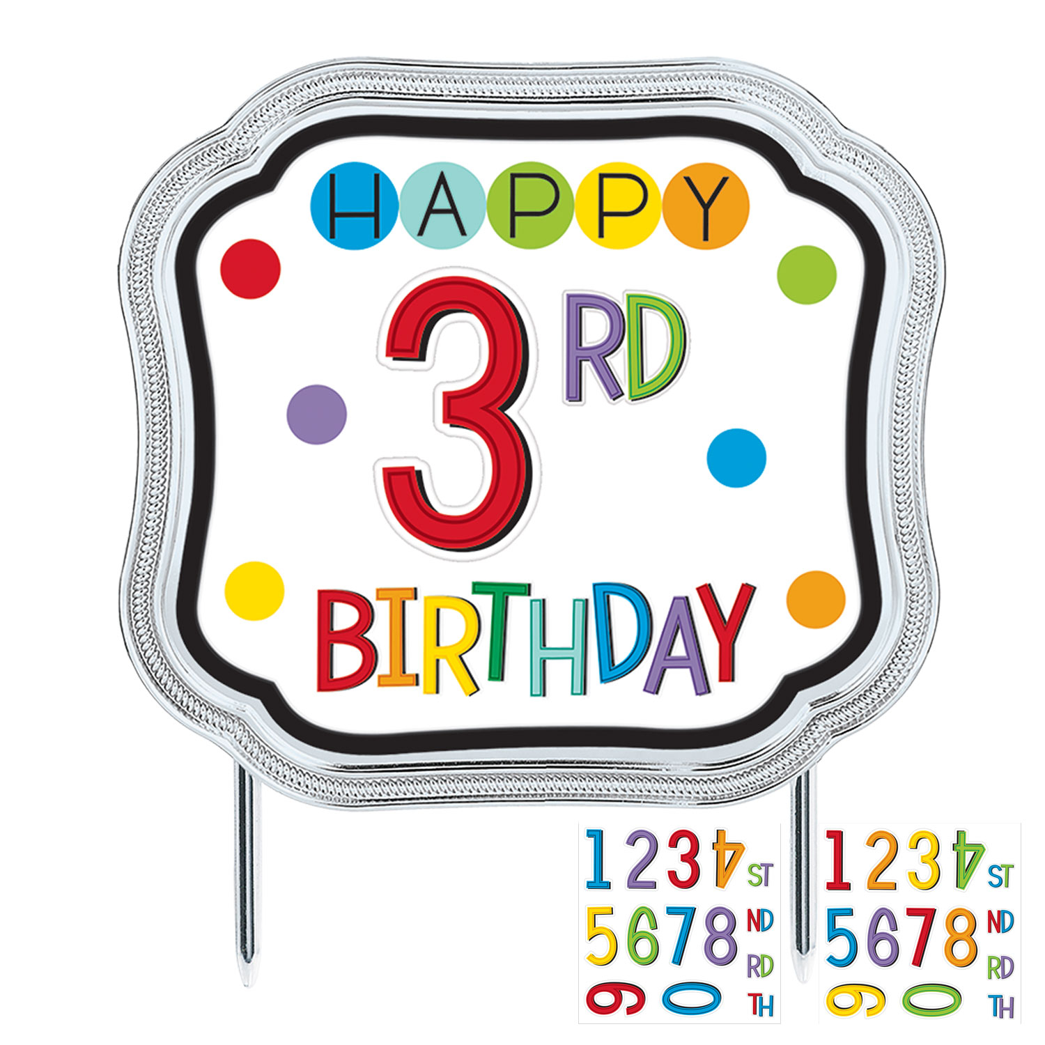 "Topo de Bolo Personalizavel ""Happy Birthday"""