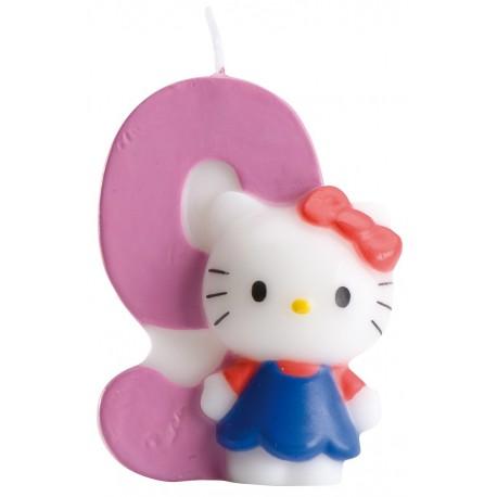 Vela nº9 Hello Kitty