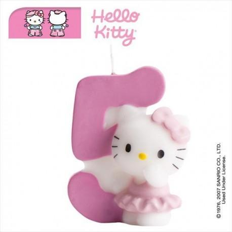Vela nº5 Hello Kitty