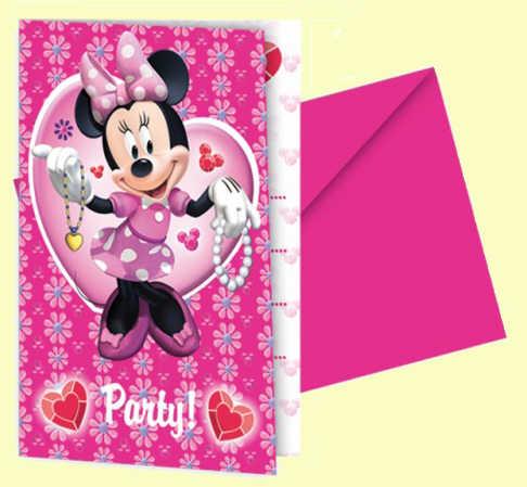 6 Convites Minnie