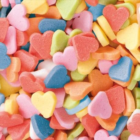 Confeti Corações Coloridos