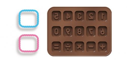 Conj. de Formas p/ Chocolate e Corta Massas - Números