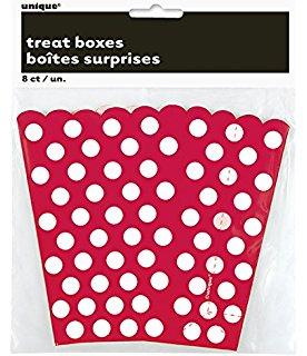 Caixas p/ Pipocas Vermelha c/ Bolinhas Brancas