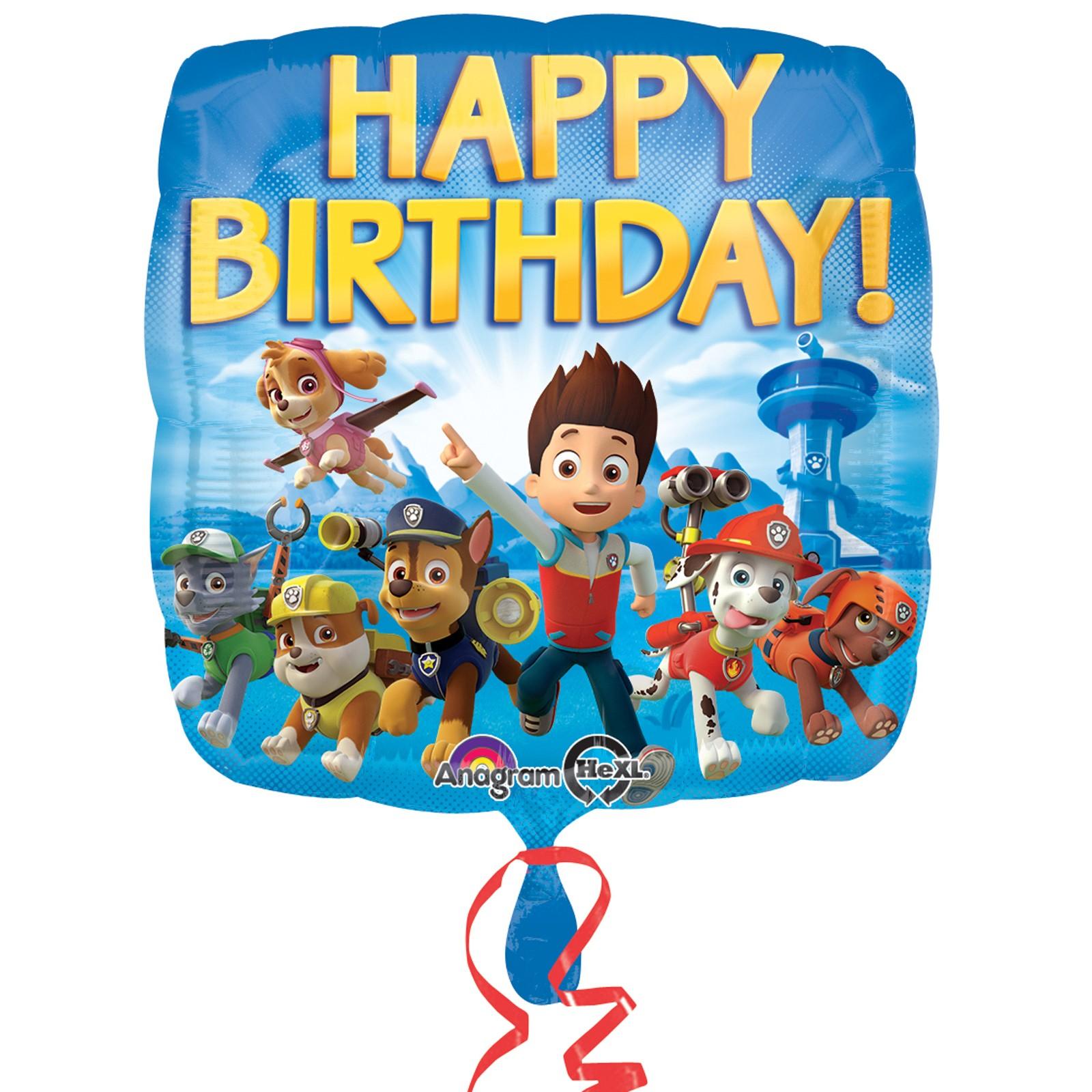 Balão Happy Birthday Patrulha Pata