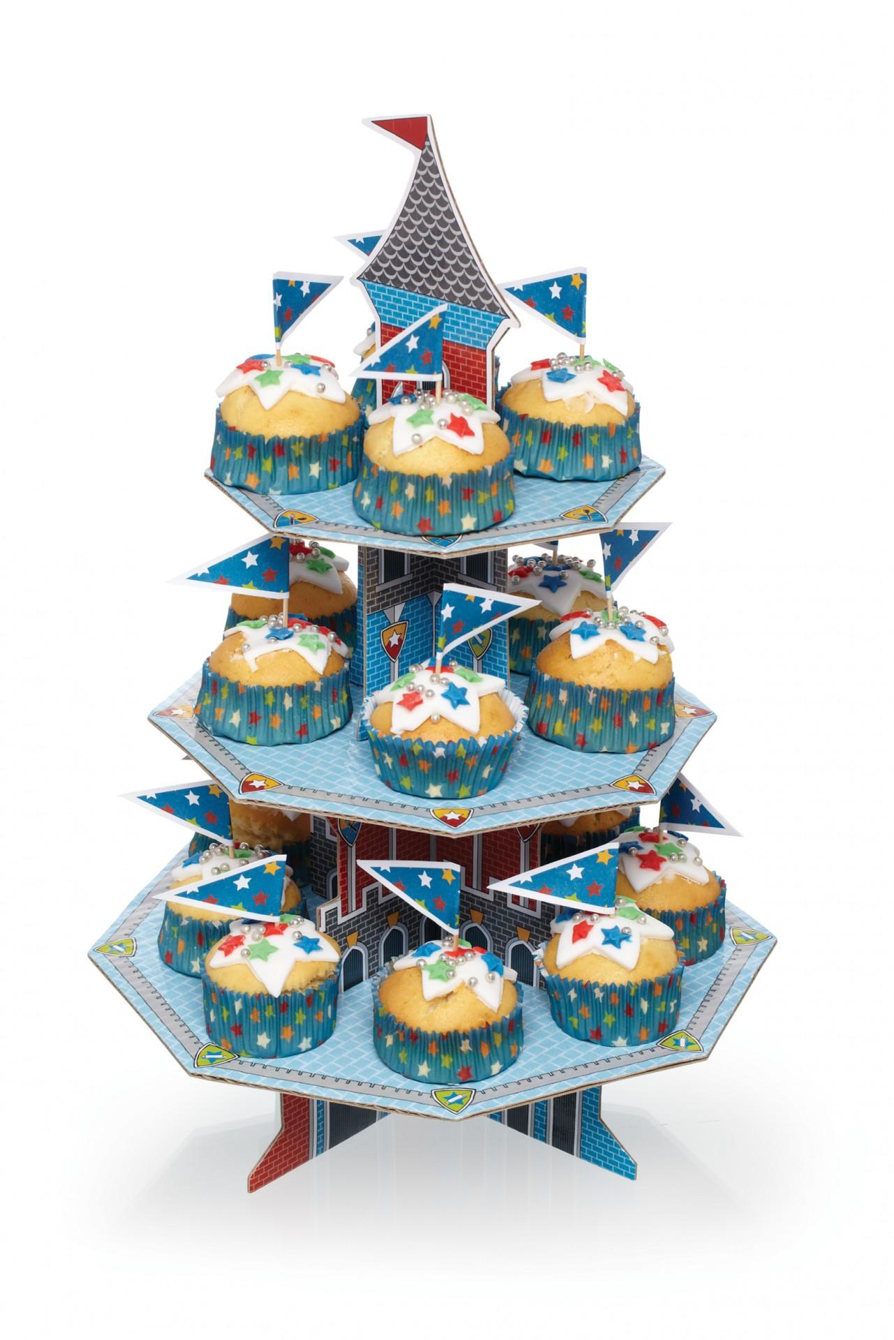 Kit Stand Cupcake - Cavaleiros