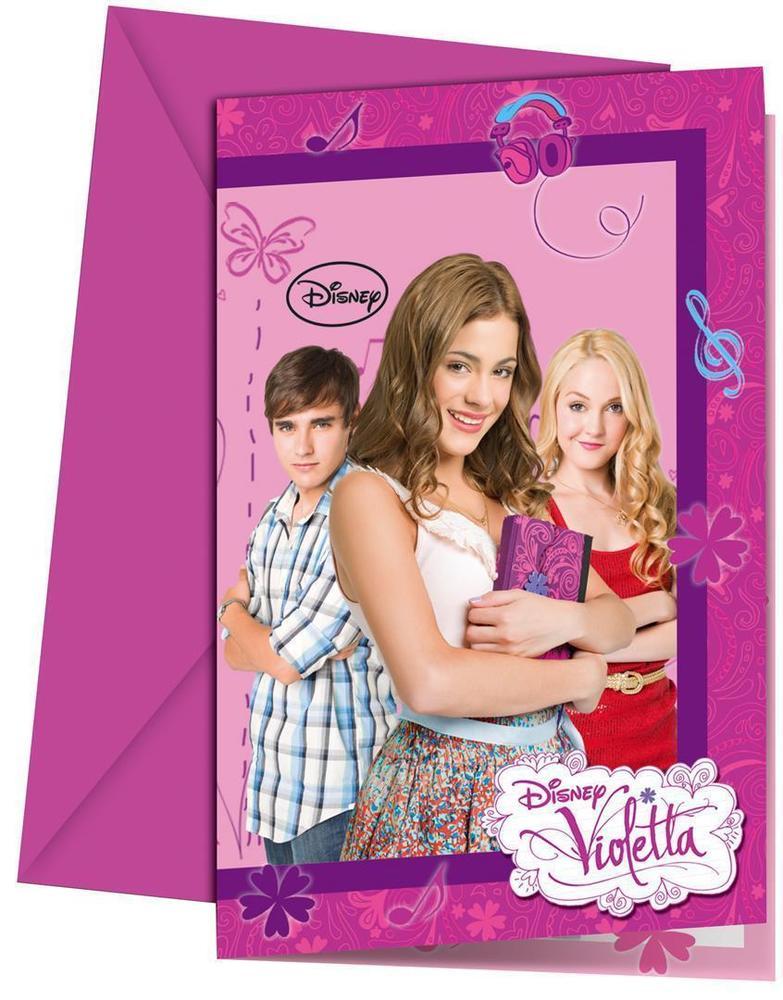 6 Convites Violetta
