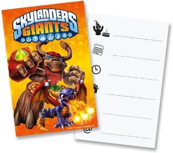 6 Convites Skylanders
