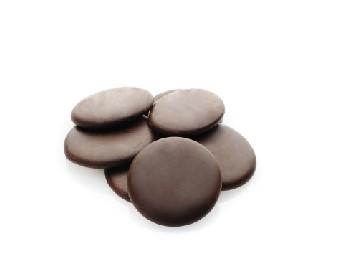 Medalhas de Chocolate Sucedâneo Dark 18%