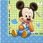 Guardanapos Mickey Bébe