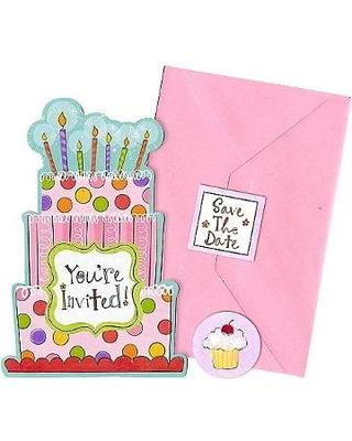 Convites Rosa Happy Birthday