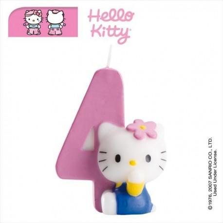 Vela nº4 Hello Kitty