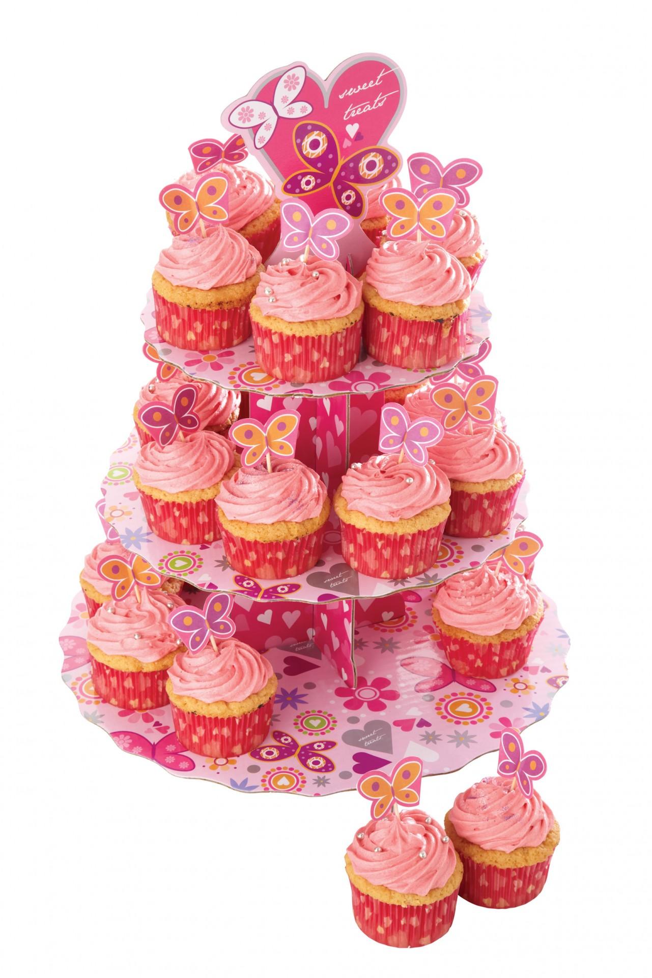 Kit Stand Cupcake - Borboletas