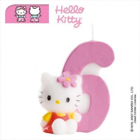 Vela nº6 Hello Kitty