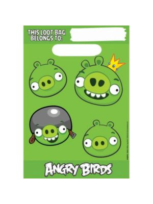 6 Sacos p/brindes Angry Birds