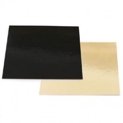 Bases quadradas 2 faces:preto/dourado