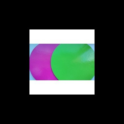 Bases 2 faces:verde/rosa choque