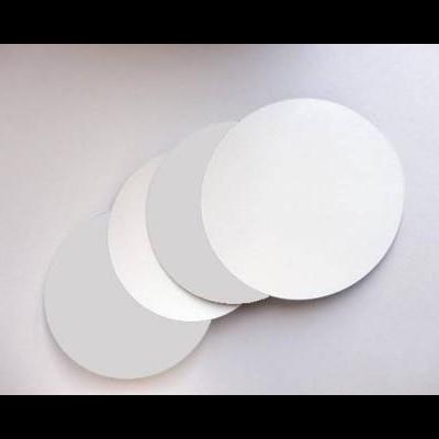 Bases redondas 2 faces Branco/prata