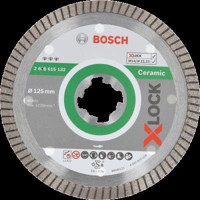 Bosch X-LOCK - Disco de corte com diamante Best for Ceramic Extra Clean Turbo