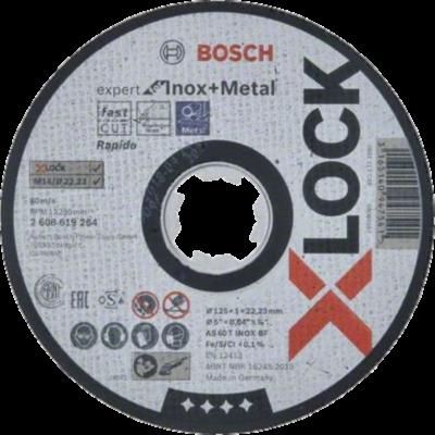 Bosch X-LOCK - Disco de corte Expert for Inox and Metal