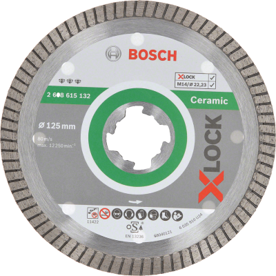 Bosch X-LOCK - Disco de corte com diamante Best for Ceramic Extra Clean Turbo