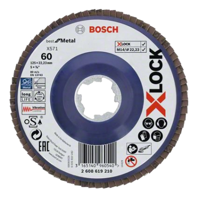 Bosch X-LOCK - Disco de lamelas X571 Best for Metal