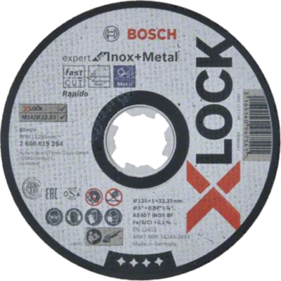 Bosch X-LOCK - Disco de corte Expert for Inox and Metal