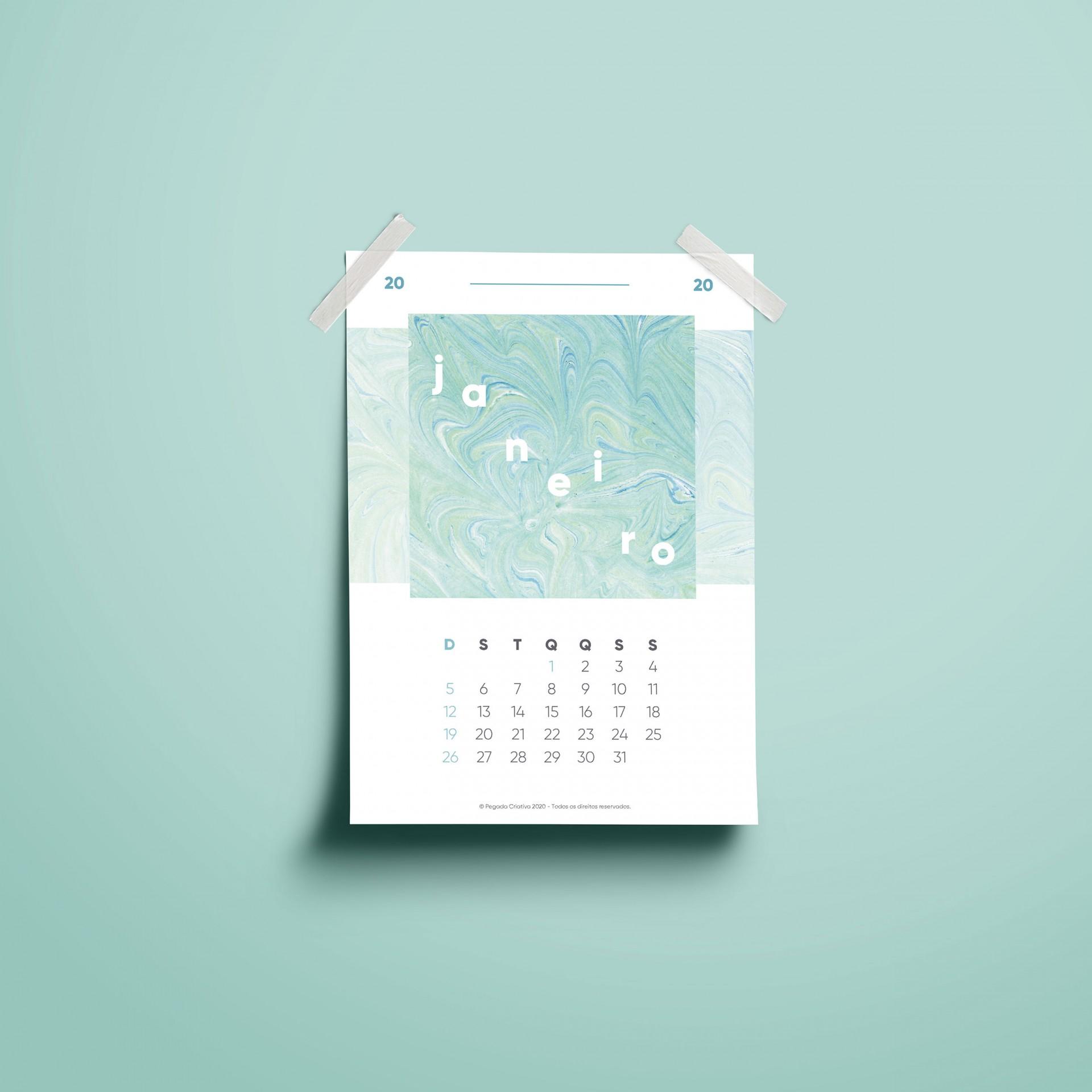 Folhas Calendário 2020