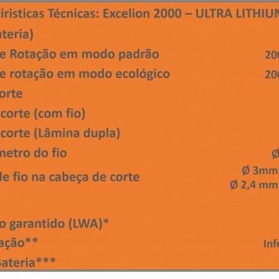 EXCELION 2000 - ULTRA LITHIUM 1100