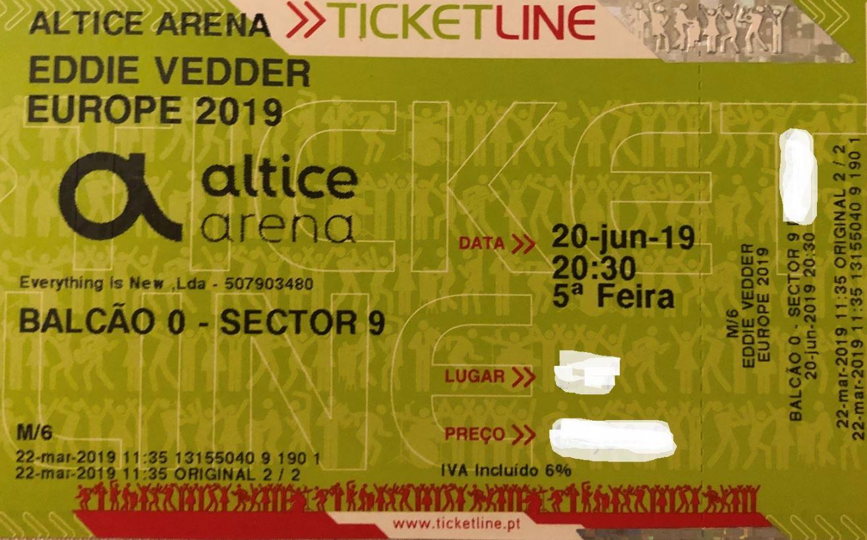 Queres ganhar um bilhete duplo para assistir ao concerto do Eddie Vedder dia 20 de Junho em Lisboa?