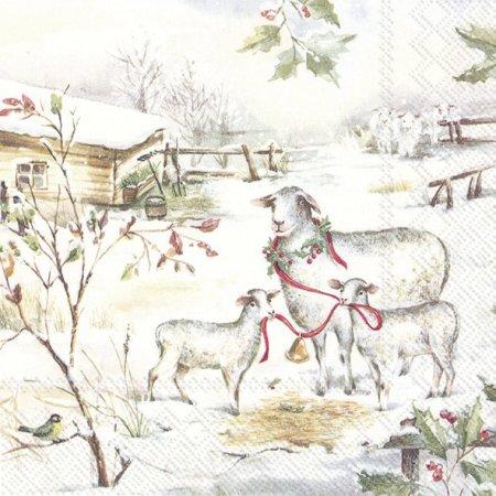 Guardanapos de papel Ovelhas na neve