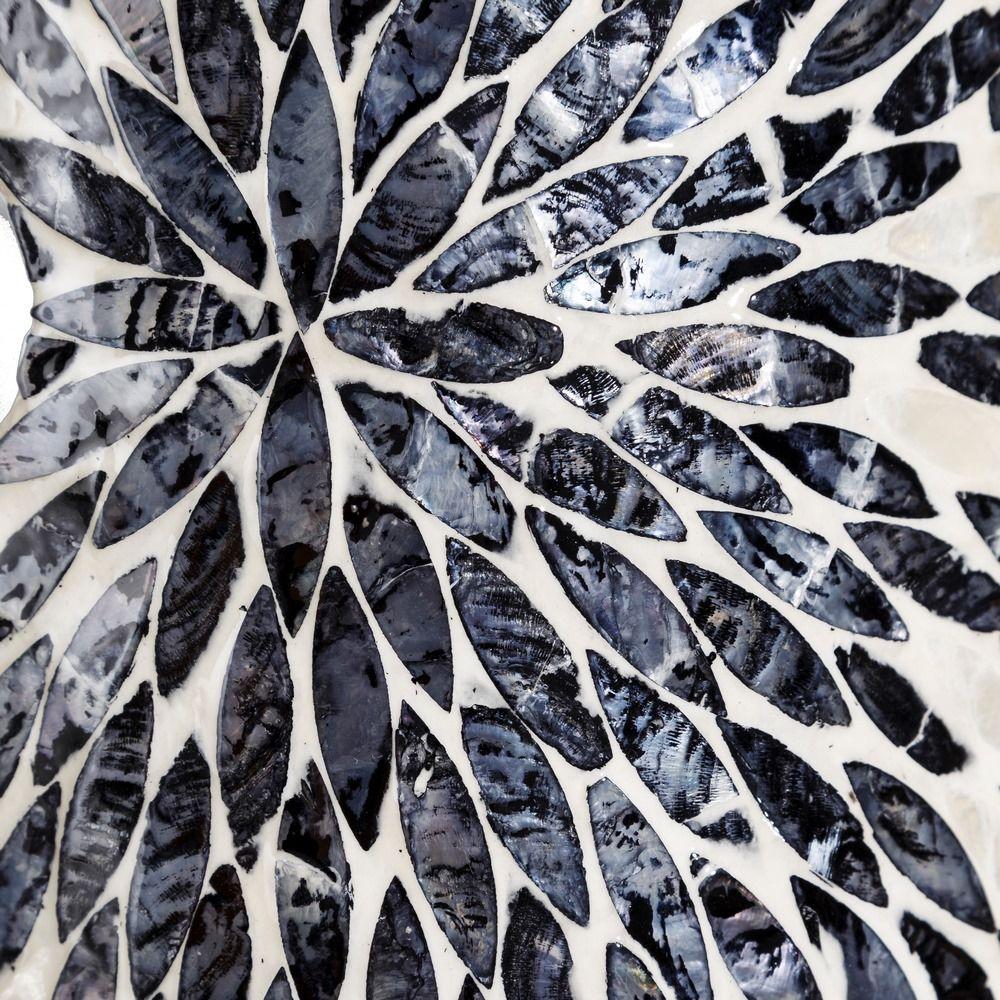 Bengaleiro branco e preto geometricos