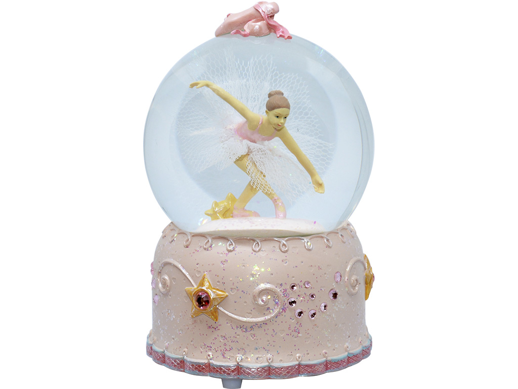 Caixa de Música Giratória - Bailarina com Purpurinas