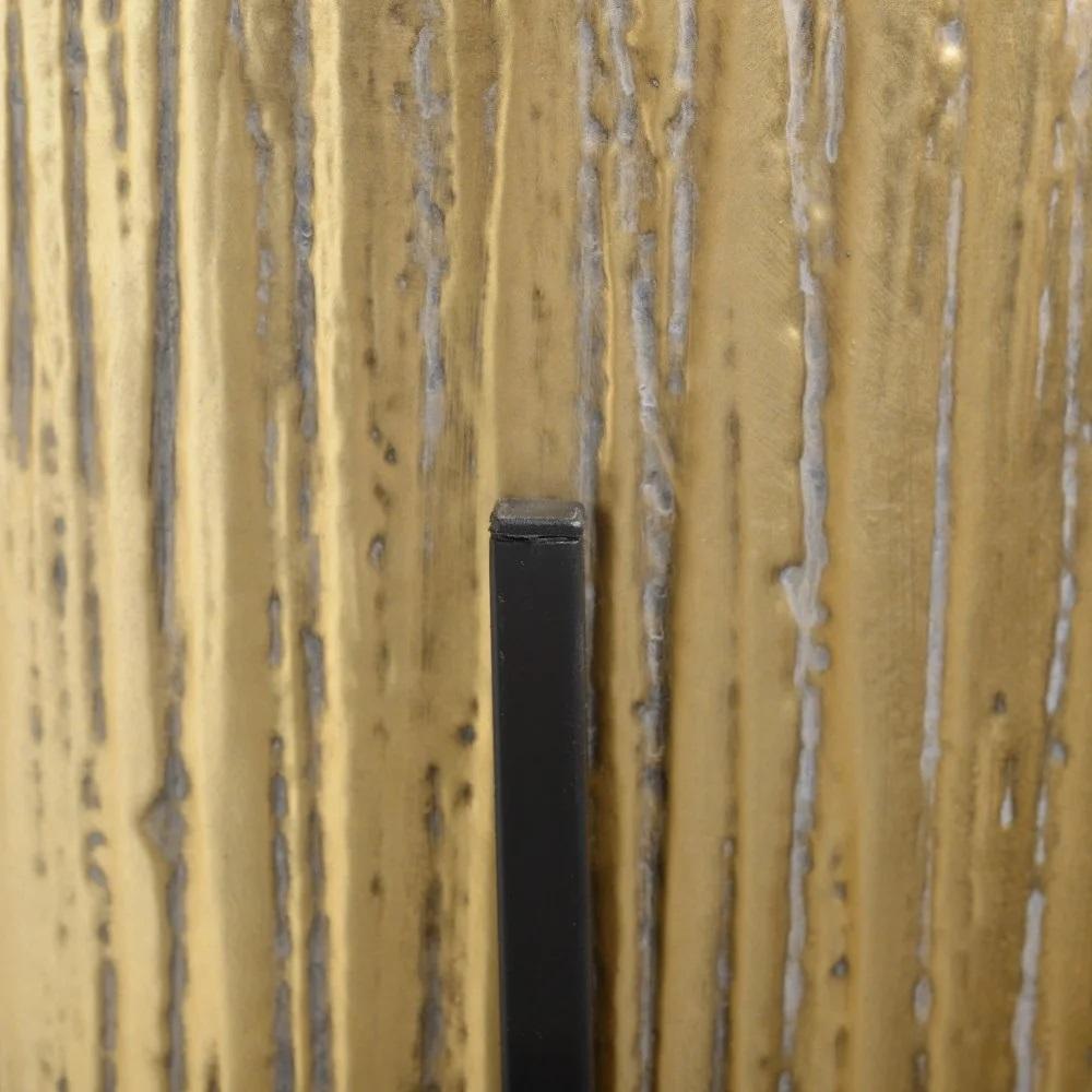 Floreira metal envelhecido tons dourado com pe