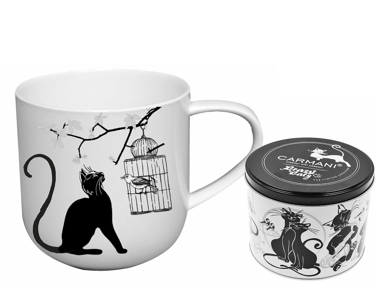 Mestres da pintura - Koci świat - Gatos e Gaiola - Caneca Porcelana