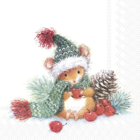 Guardanapos de papel Ratinho Natal