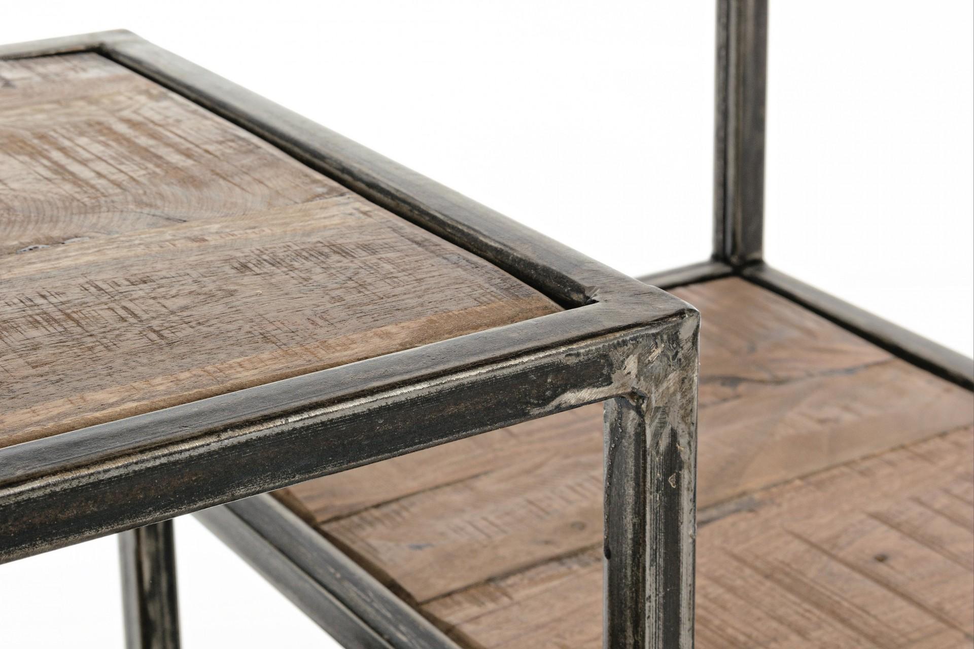 Estante metal e madeira Elmer