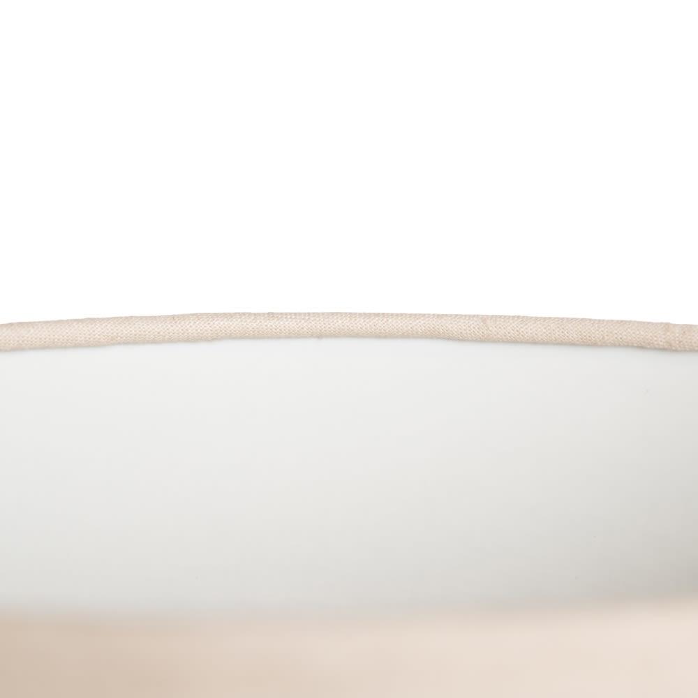 Candeeiro de mesa em madeira com abatjour