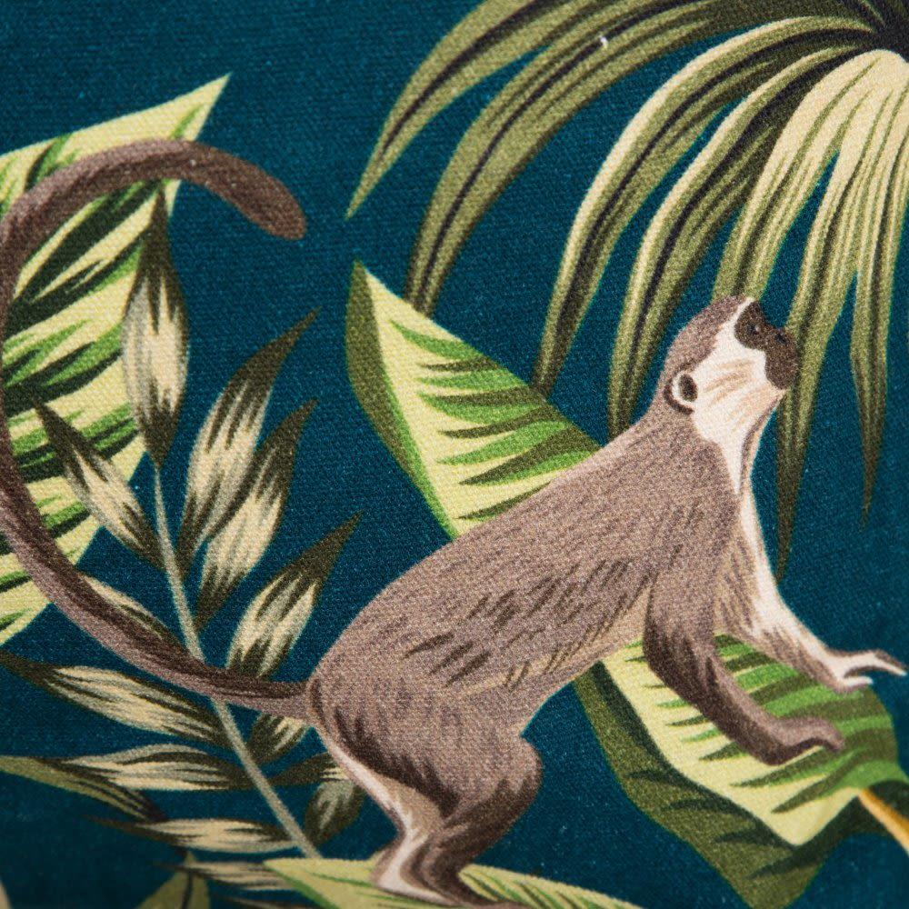 Saco com Macacos Azul Ciano