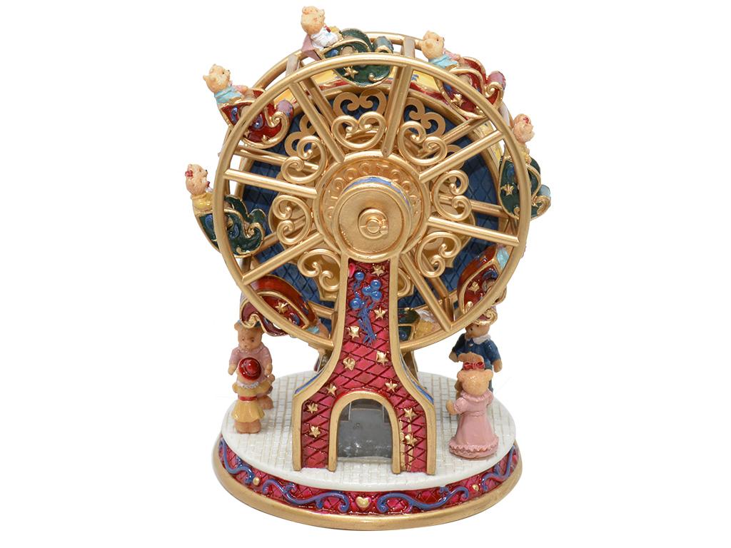 Caixa de Música Giratória - Roda Gigante Vermelha