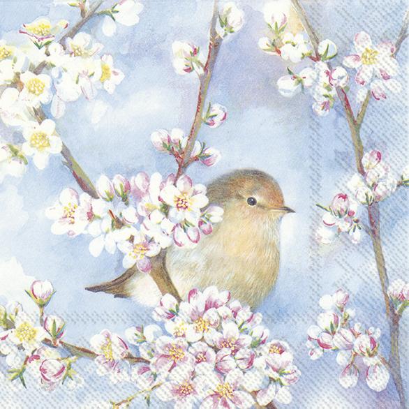Guardanapos de papel passarinhos e flores