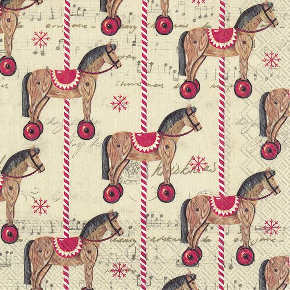 Guardanapos de papel Cavalinho de Natal