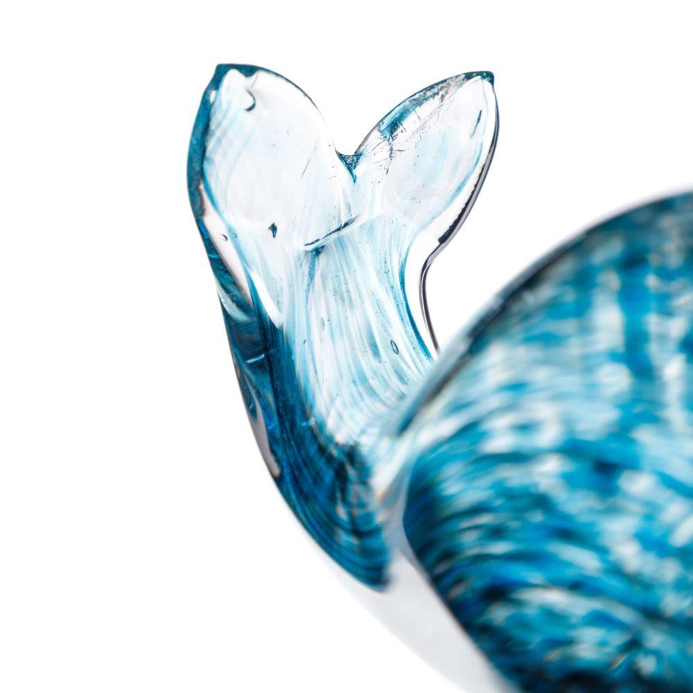 Figura de Baleia em vidro